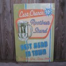 LAST CHANCE ROOTBEER STAND TIN SIGN