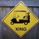 GOLF CART XING ALUMINUM SIGN