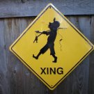 FISHERMAN XING ALUMINUM SIGN