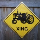 TRACTOR XING ALUMINUM METAL SIGN