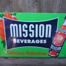 MISSION BEVERAGES TIN SIGN RETRO METAL ADV SIGNS