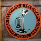 TELEPHONE TELEGRAPH CO TIN SIGN LARGE