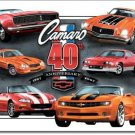 CAMARO 40TH ANNIVERSARY METAL TIN SIGN