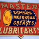 MASTER LUBRICANTS METAL TIN SIGN