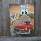 ROUTE 66 HUDSON TIN SIGN METAL RETRO SIGN