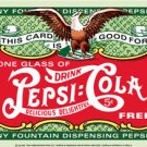 PEPSI COLA COUPON TIN METAL SIGN