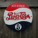 PEPSI-COLA  PORCELAIN-COATED RETRO METAL SIGN