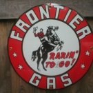 FRONTIER GAS PORCELAIN-COATED SIGN