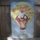 HOT FUDGE SUNDAE RETRO TIN ICE CREAM DINER SIGN