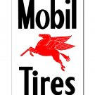 MOBIL TIRES Steel Sign RED PEGASUS