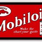 GARGOYLE MOBILOIL RED STEEL SIGN