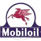 MOBILOIL MOBILGAS PEGASUS LOLLIPOP STEEL SIGN