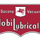 MOBIL LUBRICATION SOCONY VACUUM STEEL SIGN