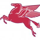 RED PEGASUS HORSE STEEL SIGN