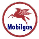 MOBILGAS PEGASUS ROUND METAL SIGN