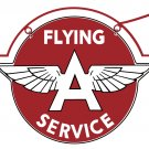 FLYING A SERVICE DOUBLE SIDED METAL HANGING SIGN