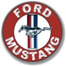 "FORD MUSTANG 12"" DISK METAL SIGN"