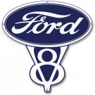 FORD V-8 VINTAGE STYLE METAL SIGN