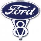 FORD V8 METAL RETRO SIGN