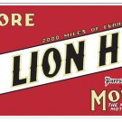 GILMORE LION HEAD MOTOR OIL METAL SIGN