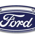 Double Sided Vintage Ford Oval Sign