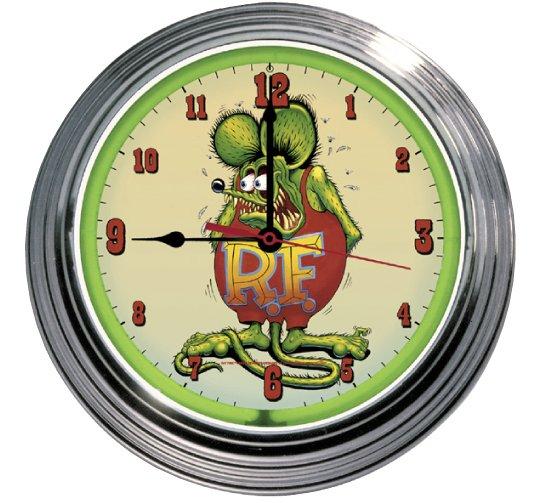 RAT FINK RETRO NEON CLOCK