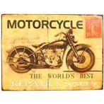 Motorcycle Stamp Tin Sign