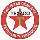 "25.5"" TEXAS COMPANY HEAVY STEEL BAKED ENAMEL SIGN 25.5"""