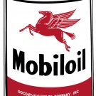 LARGE MOBILOIL OIL CAN METAL SIGN PEGASUS
