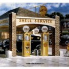 HOMETOWN HOSPITALITY SHELL SERVICE RETRO METAL SIGN