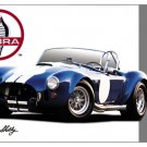 CAROLL SHELBY PHOTO PRINT HEAVY STEEL SIGN