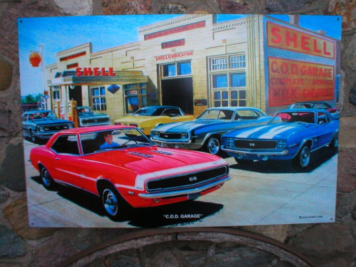 jack schmitt c o d garage large heavy steel sign. Cars Review. Best American Auto & Cars Review