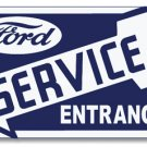 FORD SERVICE ENTRANCE LEFT HEAVY STEEL SIGN