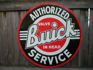 """BUICK AUTHORIZED SERVICE TIN SIGN 24"""""""