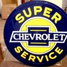 CHEVROLET SUPER SERVICE TIN SIGN 24""