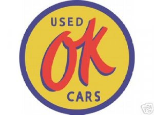OK USED CARS TIN SIGN 24""