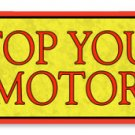 SIGNAL STOP MOTOR GASOLINE TIN SIGN 24 GAUGE