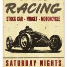SPEED RACING SATURDAY NIGHTS TIN SIGN 24 GAUGE