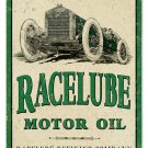 RACELUBE MOTOR OIL TIN SIGN 24 GAUGE
