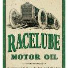 RACELUBE MOTOR OIL TIN SIGN 24 GAUGE