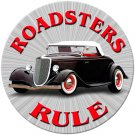 ROADSTERS RULE METAL SIGN 24 GAUGE