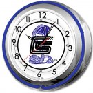 SHELBY COBRA DOUBLE NEON CLOCK 17""