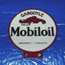 MOBILOIL GARGOYLE LUBESTER DOUBLE SIDED SIGN