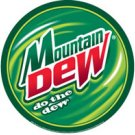 MOUNTAIN DEW ROUND TIN SIGN