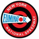 NEW YORK ELIMINATOR NATIONAL SPEEDWAY HEAVY STEEL SIGN