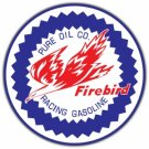 FIREBIRD RACING GASOLINE HEAVY STEEL SIGN