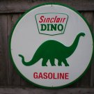 SINCLAIR DINO GASOLINE ROUND TIN SIGN 24""