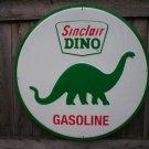 "SINCLAIR DINO GASOLINE ROUND TIN SIGN 24"""