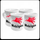 MOBILGAS COFFEE MUGS ONE SET FOUR