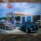 AMERICAN GAS AMOCO JUMBO HEAVY STEEL SIGN FORD CHEVY